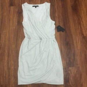 NWT Guess white and silver glitter dress L